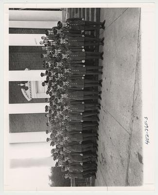 The 1969 Army Reserve Officers Training Corps Freshmen and Sophomores.  This photo is in the 1969 Kentuckian on page 365