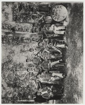 The Cadet Band of 1893 was conducted by Herman Trost, far left