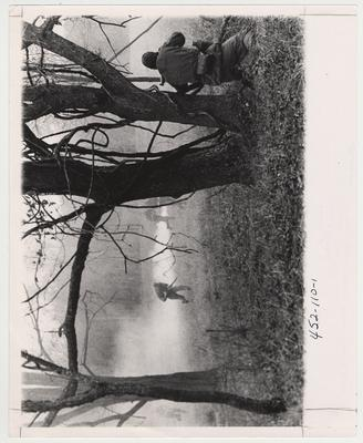 The University of Kentucky Army Reserve Officers Training Corps practicing war games.  This photo is in the 1969 Kentuckian on page 111