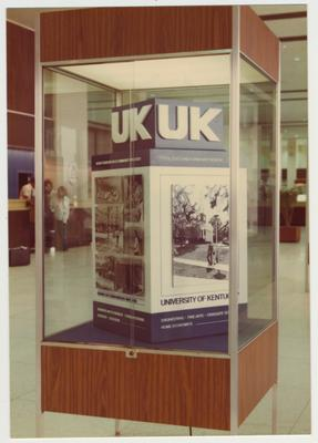 University of Kentucky display at the Bluegrass Airport in 1976-77