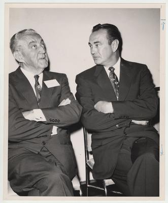 Governor Lawrence Wetherby on the right