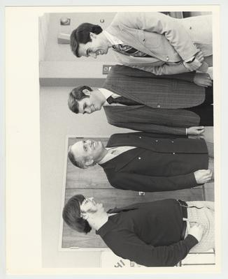 Governor Julian Carroll with others