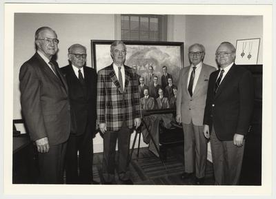 Former president Frank Dickey, the third man from the left, poses with Omicron Delta Kappa alumni
