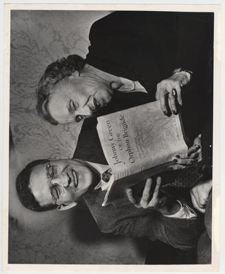 Albert Kirwan with Marion Green, daughter of