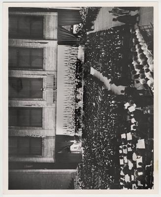 Inaugural ceremonies for president Oswald at Memorial Coliseum