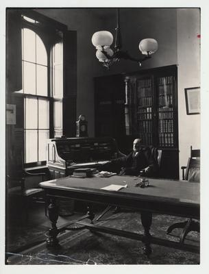President James Kennedy Patterson in his office in the Main Building