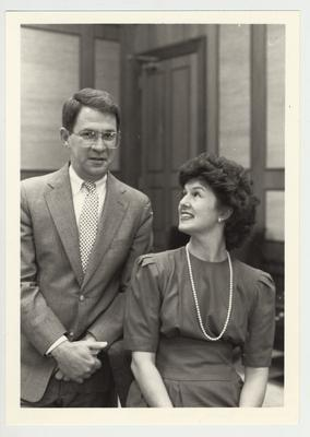 President Roselle (left) is standing next to his wife Louise