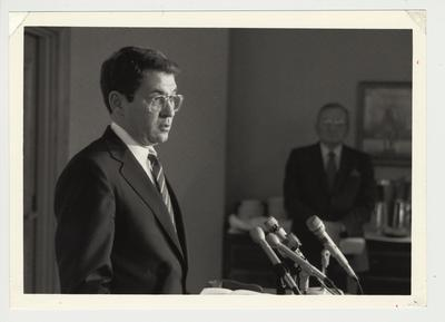 President Roselle speaking at a podium