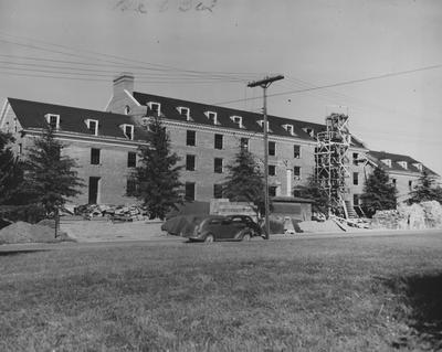 Construction of Bowman Hall, a men's dormitory, was named after John Bowman. Photographer: W. E. Sutherland