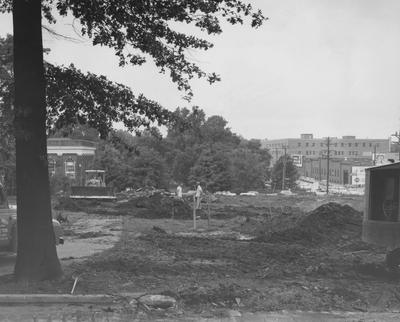 Construction of Holmes Hall began on June 27, 1956, a woman's dormitory which was named after Sarah B. Holmes and dedicated on May 25, 1958. Received July 31, 1956 from Public Relations