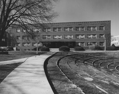 The front of Erikson Hall, Home Economics building. Named after Statie Erikson