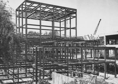 Construction of the Fine Arts Building. Photographer: Mack Hughes. Received April 26, 1948 from Public Relations