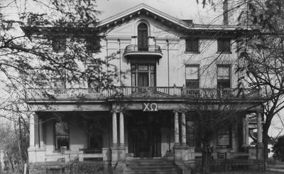 Front of the Chi Omega House. This photo is on page 274 of the 1948