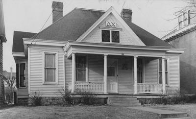 Front of the Delta Chi House. This photo is on page 300 of the 1948