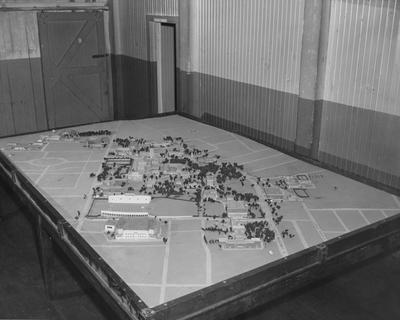 A scale model of the University of Kentucky campus