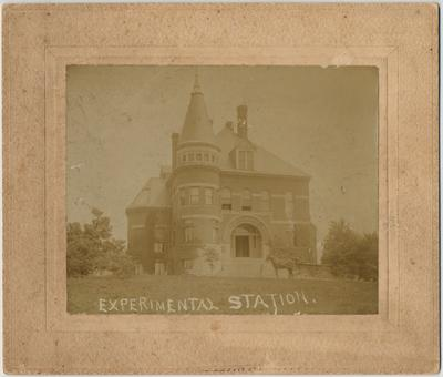 The front of the Gillis Building (then called the Experiment Station). The Gillis Building was built in 1892 and on April 4, 1978, it was named after Ezra Gillis. Photographer: Edgar C. Loevenhart