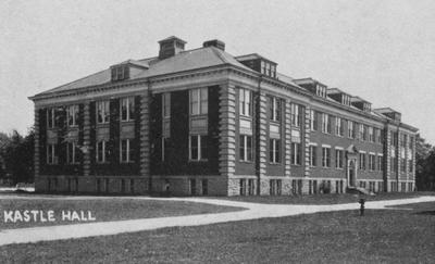 A small image of Kastle Hall. Kastle Hall was built in 1910 and named after Joseph Kastle