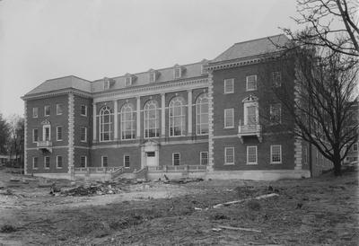 Front of Margaret I. King Library under construction