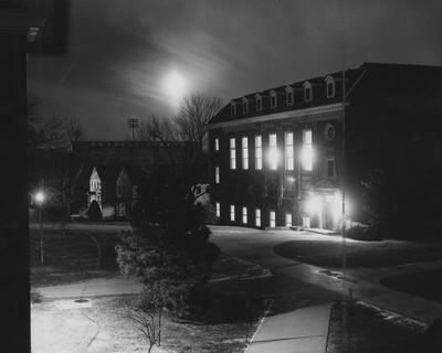 West side of King Library before the addition. Photographer: John Mitchell