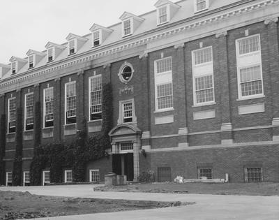 West side of King Library. Received July 30, 1962 from Public Relations
