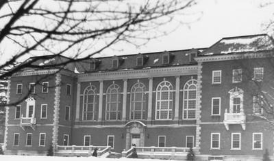 King Library with snow