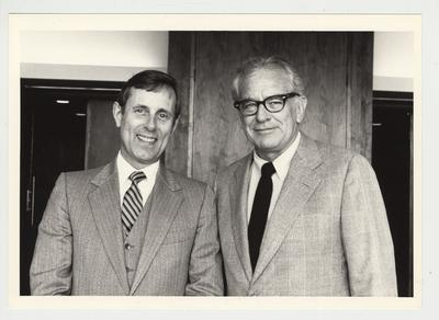 President Singletary (right is standing with Dr. Edgar L. Sogow (left)