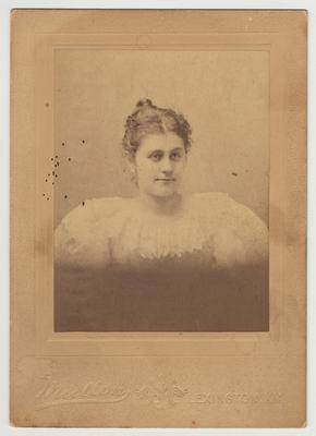 An unidentified female member of James White's family