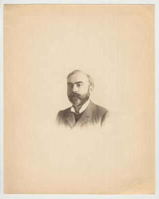 A portrait of an unidentified man.  He is probably related to James White