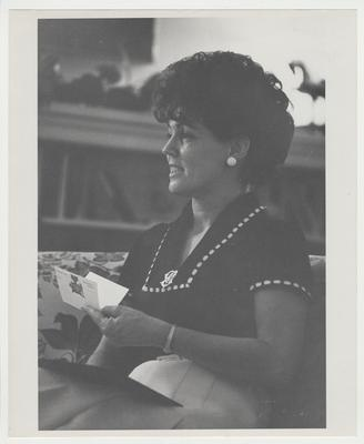Gloria Singletary is in the library in Maxwell Place