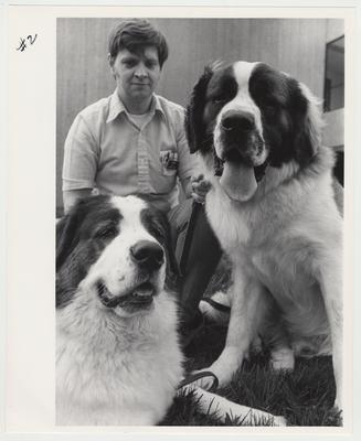 Forrest Moore with two dogs