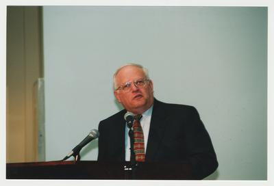 James Klotter, State Historian of Kentucky, is speaking at Dr. Thomas D. Clark's 100th birthday celebration at Young Library