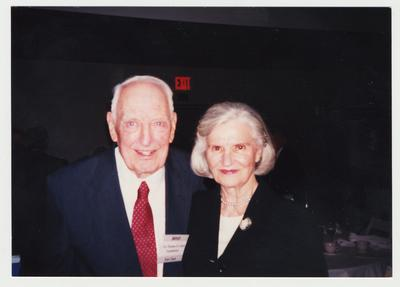 Loretta Clark (right) is standing with Dr. Thomas D. Clark (left) at the Publishing of