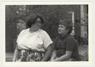 Ginny Stephens (left) and a child Tighe Estes (right)