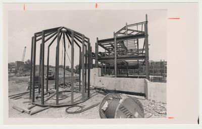 The cupola of William T. Young Library during construction