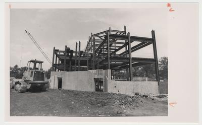 The construction of the William T. Young Library