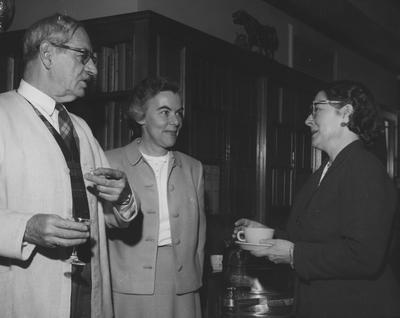 At the dedication at Keeneland, Joseph McMullan, Adele Headly, and Caroline Porter