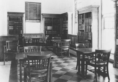 The far north end of the Breckinridge room (now the display room). See Nollau Nitrate Print File No. 1279A