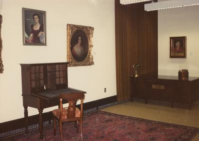 A color photo of the Patterson room in the Margaret I. King North Library in Special Collections and Archives. Photographer: Terry Warth