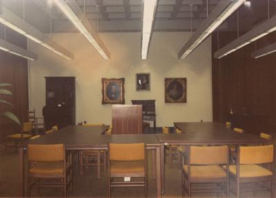 A color photo of the Reading Room in Margaret I. King North Library. Photographer: Terry Warth