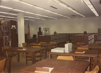A color photo of the Research/ Reading Room in Margaret I. King North Library. Photographer: Terry Warth