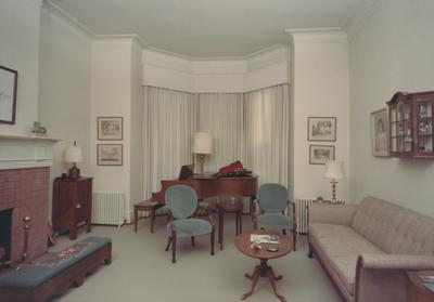 Interior of Maxwell Place. Received from papers of Otis Singletary