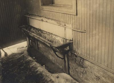 Urinal at Mechanical Hall. Received January of 1953 from Dr. McVey's files