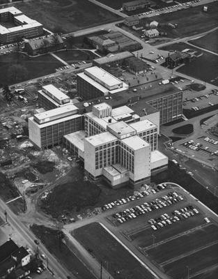Aerial view from the south of the Medical Center. Received May 2, 1961 from Public Relations