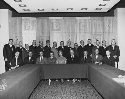 Pictured are members of the Ohio Valley Regional Medical Program Board: Back row-eleventh person going left to right: Dr. Peter Bosomworth, Winrur Williams Smith
