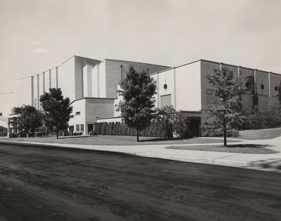 Memorial Coliseum completed. Received June of 1960 from Professor Victor Portman