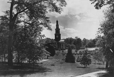 Distant view of Memorial Hall