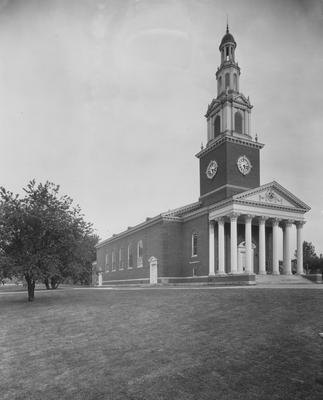 Front side of Memorial Hall during the spring or summer. Photographer: La Fayette Studio
