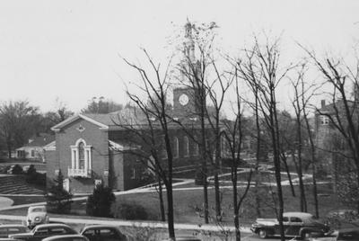Memorial Hall on the left and Agriculture Building on the right