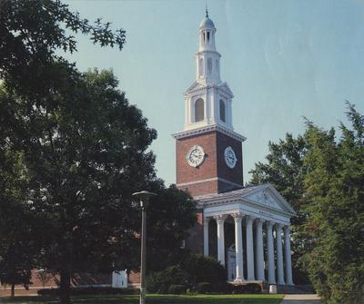 Memorial Hall photograph from the cover of the Lexington telephone directory in 1983, March