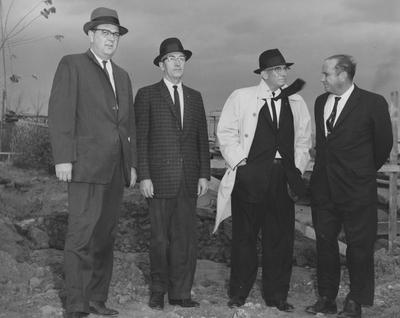 Four unidentified men an an unidentified groundbreaking. Received November 27, 1961 from Public Relations
